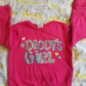 Sparkly daddy's girl pink sweater